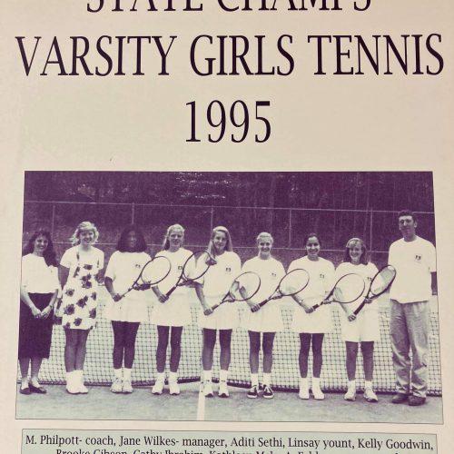 Thorugh the yearbook Tennis